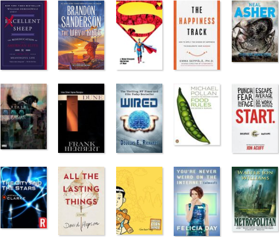 Some of the books I read in 2016