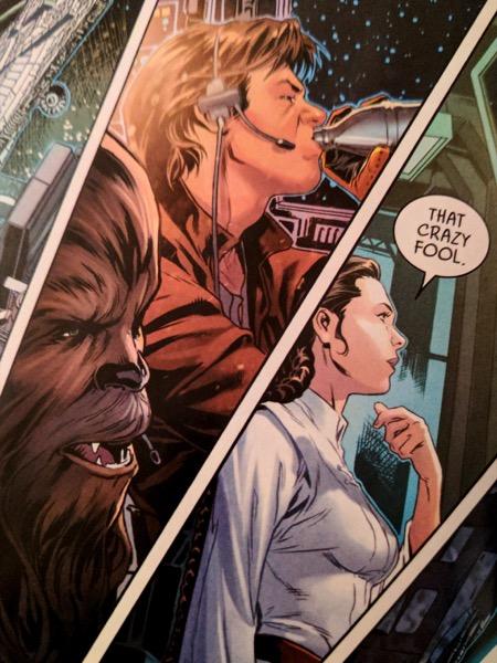 Leia: That crazy fool.